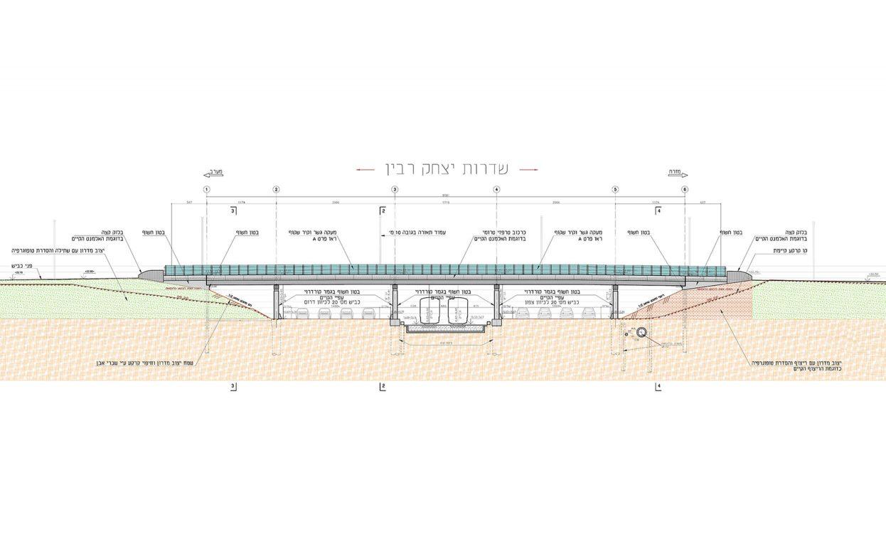 """מתחם ה-1000 ראשל""""צ – הרחבת גשר רבין"""