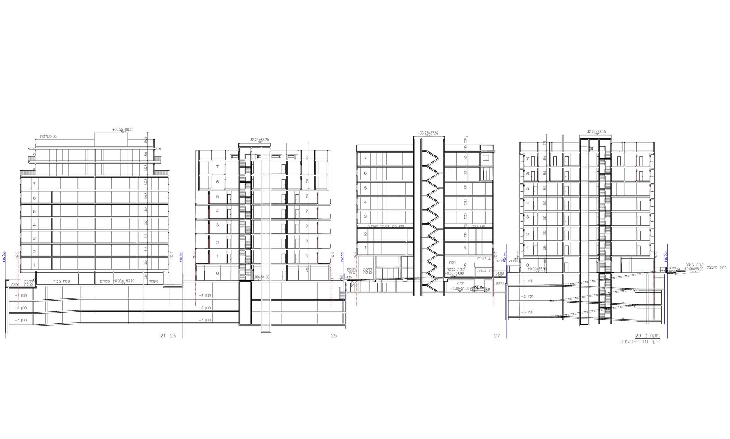 """סוקולוב 21-29 – רמה""""ש – תכנון מפורט לביצוע"""